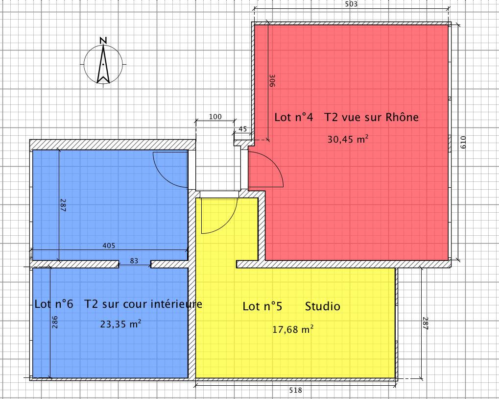 Vente appartement lyon 4e arrondissement 69004 1 pi ce sur for Simulation pret foncier